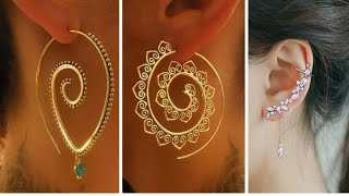 WOW !! Latest Earring Design Images || Sterling Silver & Gold Earrings with Dimonds & Real Moti