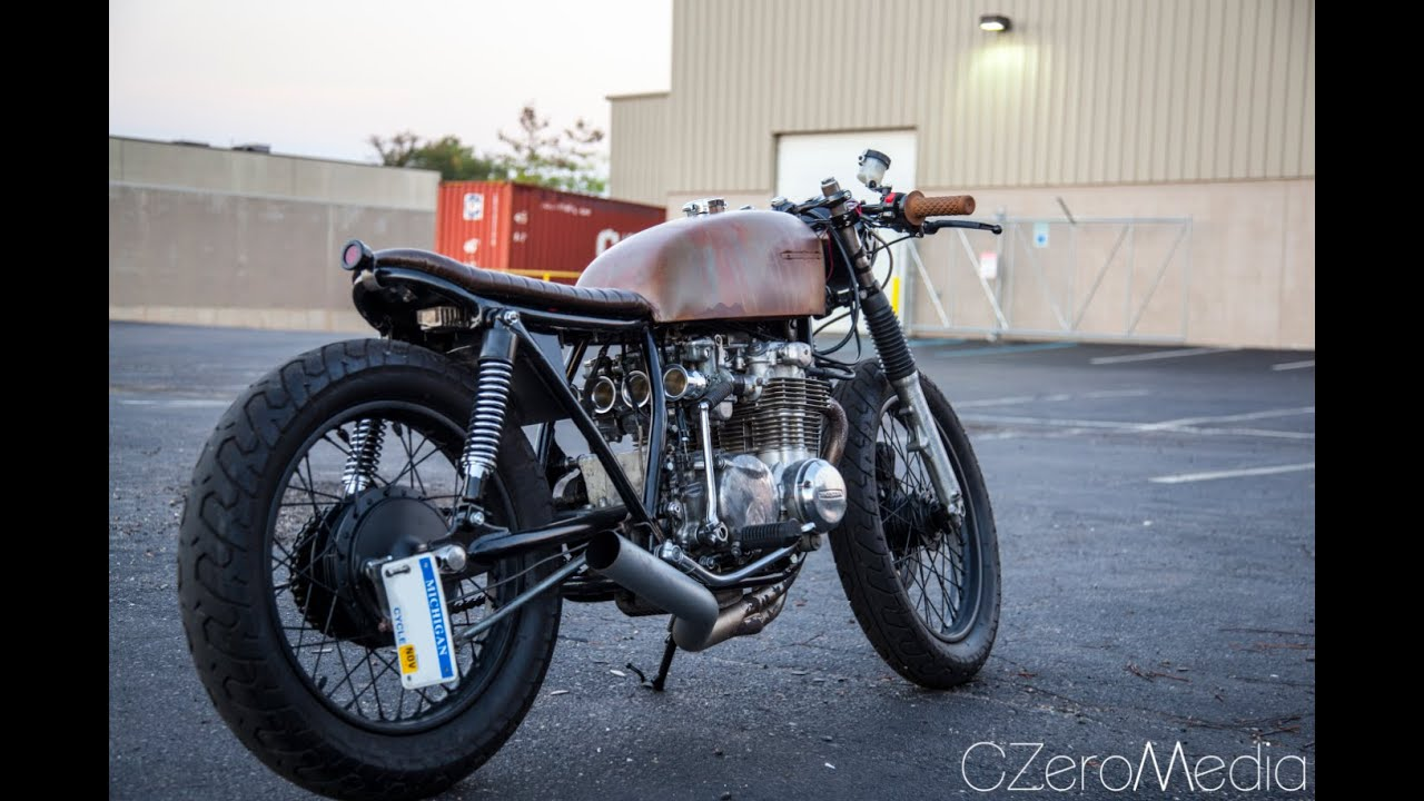 cb550 cafe racer runs out of gas a little mishap