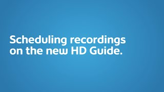 Scheduling PVR Recordings I Shaw Direct Support & How To I Shaw Direct