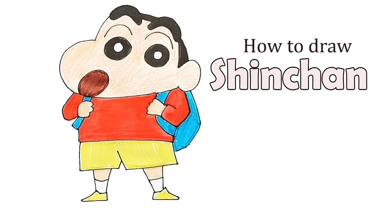 How To Draw Shinchan Step By Step Youtube