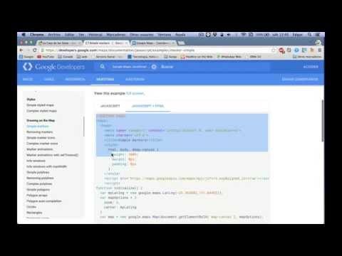 Insertar Marcadores De Google Maps En HTML