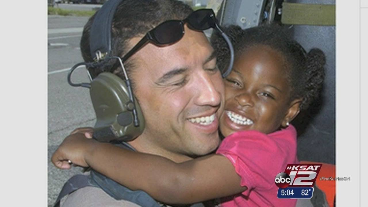 Katrina Girl brings Air Force vet who rescued her to ball