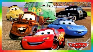 CARS 1 - Lighning McQueen - the cars part 1 - Mack - Disney - Pixar - accidents - Mater Toons