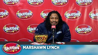 Skittles Marshawn Lynch Press Conference thumbnail