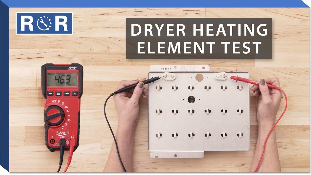 speed queen # 61927 - continuity test (dryer heating element)