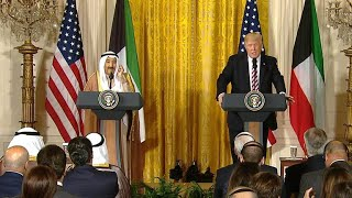 President Trump holds joint press conference with Emir of Kuwait