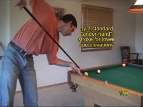 Pool and billiards jump shot drills for learning how to jump over a ball, from VEPP IV (NV C.16)