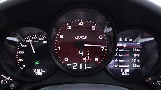2017 Porsche 911 Carerra 4 GTS (991.2) 450 HP 0-100 km/h, 0-100 mph & 0-200 km/h Acceleration