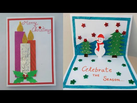 Diy Christmas Card Making Popup Christmas Card For Kids Snowman