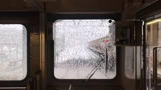 大雪の日の東急8500系 大空転&緊急停車の瞬間!