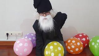 Yaşlı Dede Balonları Sakladı Berat Hepsini Buldu