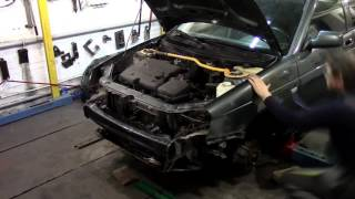 Кузовной ремонт. Приора и лонжероны. Body repair.(Body repair. Кузовной ремонт автомобилей в гараже. Подробности на моем сайте. http://remontkuzova.blogspot.ru/ Комментарии..., 2016-03-05T19:22:32.000Z)