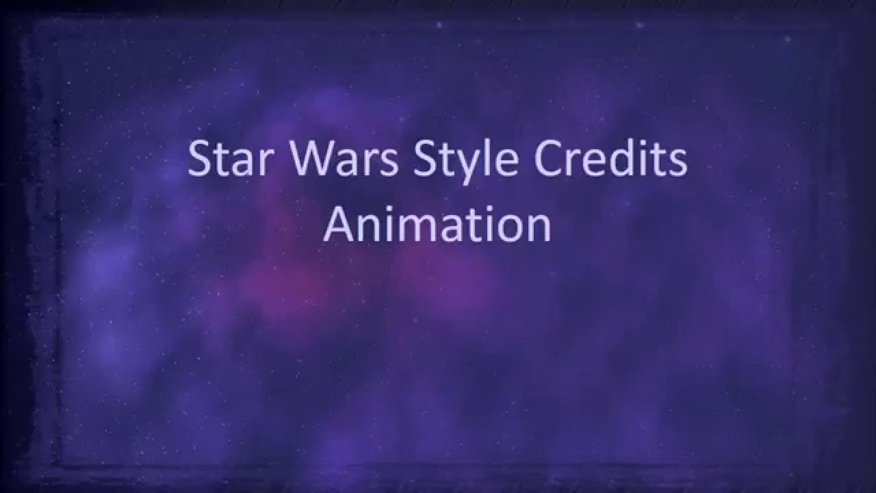 star wars style credits animation in powerpoint - youtube, Powerpoint templates