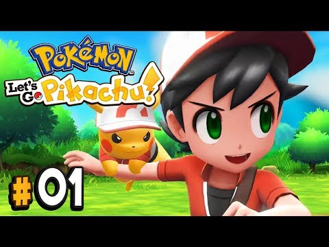 Pokemon Lets Go Pikachu Part 1 Welcome Back to Kanto! Walkthrough Gameplay