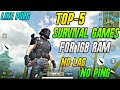 Top-5 Survival Games For 1GB Ram MobileNew Survival And Battel Royale Game For 1GB RamLike Pubg
