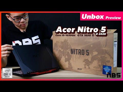 Unbox Preview - Acer Nitro 5 (2020) Core i5-10300H + GTX 1650 / GTX 1650 Ti + RAM 16GB + SSD 512GB