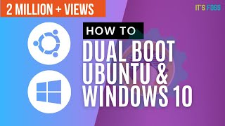 Gambar cover How to Dual Boot Ubuntu 18.04 and Windows 10 [2019]