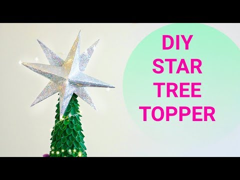 How to make Christmas STAR Tree Topper || 3D STAR TUTORIAL for Christmas tree