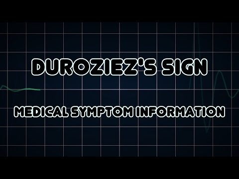 Duroziez's sign (Medical Symptom)