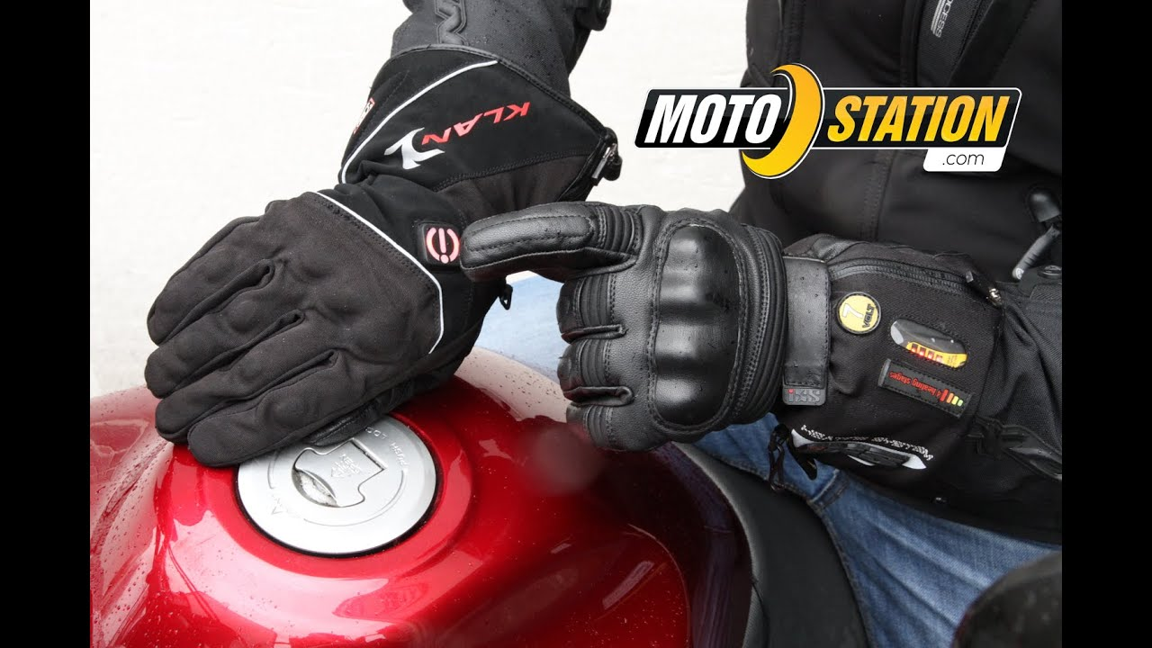gants chauffants moto le test moto station youtube. Black Bedroom Furniture Sets. Home Design Ideas