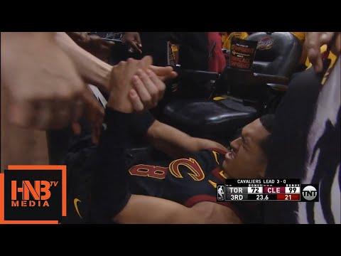 DeMar DeRozan EJECTED hard foul on Jordan Clarkson / Cavaliers vs Raptors Game 4