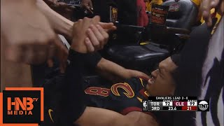 DeMar DeRozan EJECTED hard foul on Jordan Clarkson / Cavaliers vs Raptors Game 4
