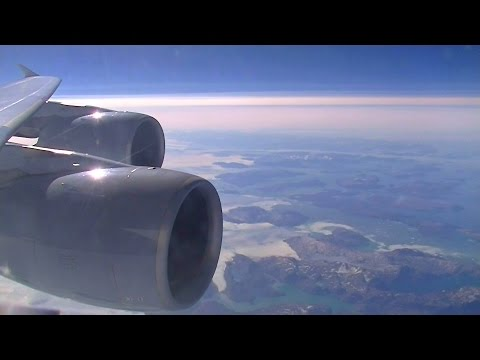 Lufthansa A380 - Spectacular flight over Greenland on route to San Francisco