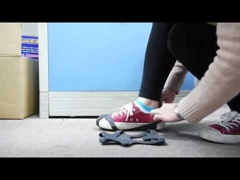旅行玩家-冰上防滑鞋套 快速穿脫! - YouTube