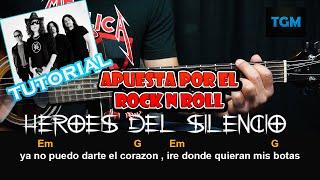 como tocar apuesta por el rock and roll heroes del silencio guitarra tutorial