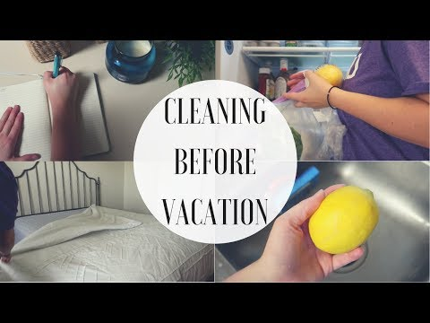 CLEANING BEFORE VACATION
