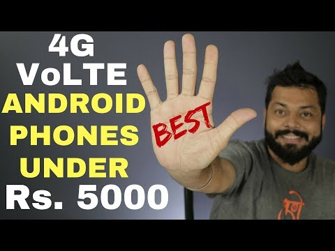 Top 5 Best 4G VoLTE Android Mobiles Under Rs. 5000 - Hindi