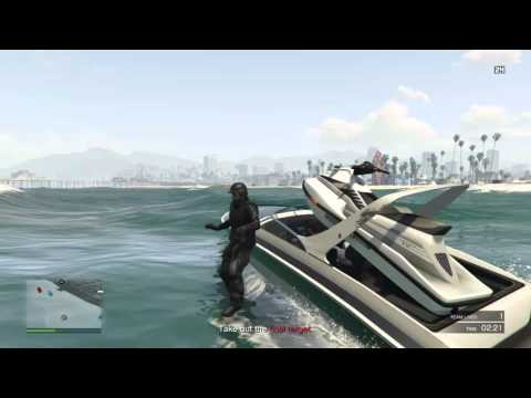 Grand Theft Auto V. Land in a boat and blow myself up
