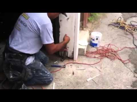 How to repair a termite damaged garage door jamb part 3 of