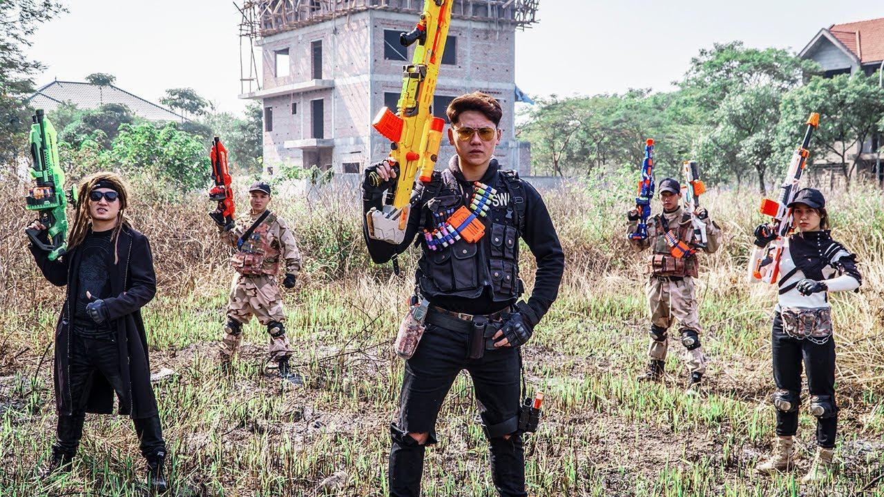 LTT Game Nerf War : Warriors SEAL X Nerf Guns Fight DANGER AREA Rocket Crazy Bad Bandit