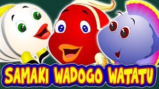 Samaki Wadogo Watatu | Three Little Fishes | New Swahili Fairy Tale | Hadithi za Kiswahili
