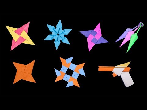 07 New Easy Origami Ninja Star/Sword/Knife/gun - How to make