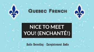 |Level 2| Lesson 12 - Nice to Meet You (Enchanté) [Learn French - Apprendre le français)