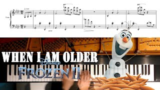 【When I Am Older】Disney 《Frozen 2》OST_Version by Josh Gad/Piano Cover with Sheet