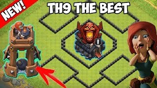 CLASH OF CLANS - NEW BOMB TOWER! | BEST BASE TH9 | CoC New Update! 2016