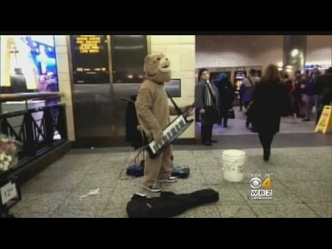 Friends, Fellow Street Performers Stand By Keytar Bear After Attack