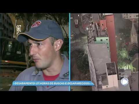 Corpo de Bombeiros confirma 44 moradores desaparecidos de prédio que desabou