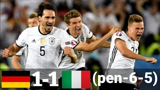 Germany 1 6 Italy 1 5 Euro 2016 Extended Higlights and goals penalty shootout