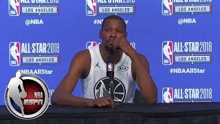 Kevin Durant on playing with Team LeBron in All-Star Game: The camaradarie was good | ESPN thumbnail