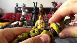 Fnaf 3 ULTIMATE SPRINGTRAP custom action figure review (masterpiece edition)