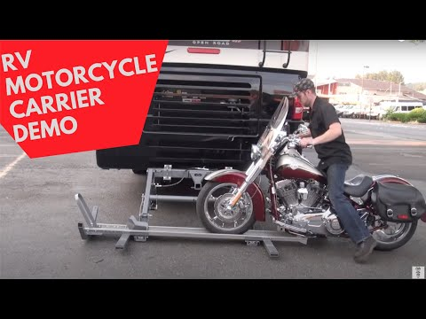 Hydralift Motorcycle Carrier Walkthrough with Motorhome-Torklift Central Welding