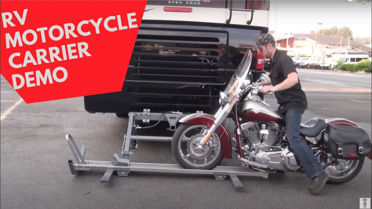 hydralift motorcycle carrier walkthrough with motorhome torklift central welding