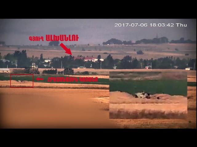 Azeri artillery deployed in dangerous proximity of Alxhanlu village