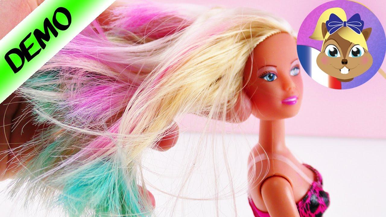 Barbie cheveux change de couleur