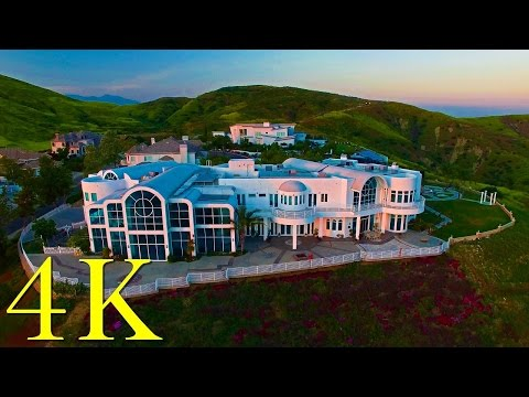 Drone Flight in Hidden Hills, Yorba Linda, California in 4K UHD