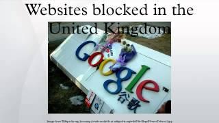 Websites blocked in the United Kingdom